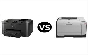 انواع پرینتر با توجه به تکنولوژی چاپ - پرینترهای لیزری و جوهرافشان