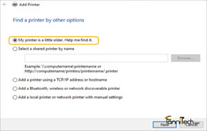 تصویر مربوط به مراحل رفع مشکل نصب پرینتر p1102 در ویندوز ۱۰