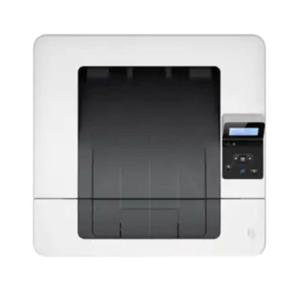 تصویر مربوط به طراحی، صفحه نمایش و نمای بالای پرینتر لیزری 402dne اچ پی